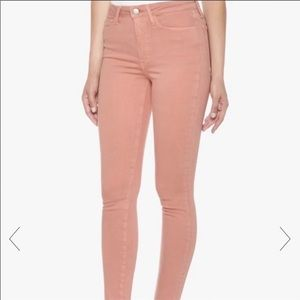 JOE'S PINK FLAWLESS CHARLIE HIGH RISE ANKLE JEANS